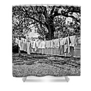 Line Drying - Laundry Shower Curtain