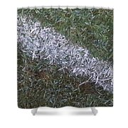 Line In The Grass Shower Curtain