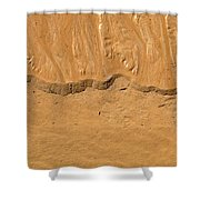 Line In The Sand Shower Curtain