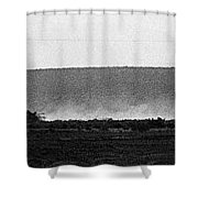 Line Of Tanks Army Reservists Summer Camp Exercise Death Valley  Ca 1968 Shower Curtain