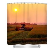 Line To Night Shower Curtain