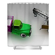 Line Truckin Shower Curtain
