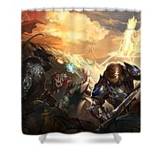 Lineage II Shower Curtain