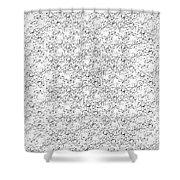 Linear Bulbs Pattern Whitesilver Black Shower Curtain