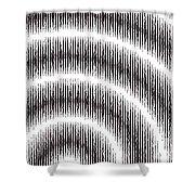 Linear Spiral Shower Curtain
