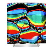 Lined Bubbles Shower Curtain