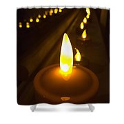 Lined Lights Shower Curtain