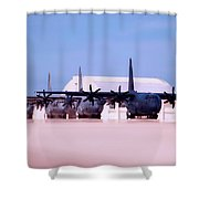 Lined Up And Ready Shower Curtain