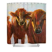 Lined Up For Supper Shower Curtain