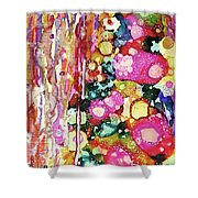 Lines And Bubbles Shower Curtain