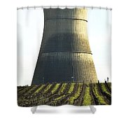 Lines To Power Tower Shower Curtain