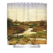 Lingering Autumn Shower Curtain