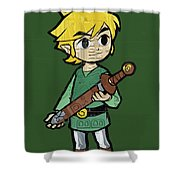 Link Legend Of Zelda Nintendo Retro Video Game Character Recycled Vintage  License Plate Art Portrait Shower · Shower Curtain