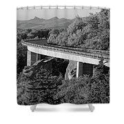 Linn Cove Viaduct Black And White Shower Curtain