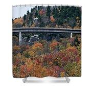 Linn Cove Viaduct Shower Curtain