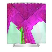 Linocln Column Pink Shower Curtain