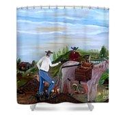 Linpiando El Coral Shower Curtain