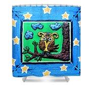 Lint Owl Shower Curtain