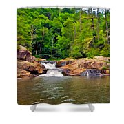 Linville Falls Nc Shower Curtain