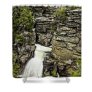 Linville Falls The Upper View Shower Curtain