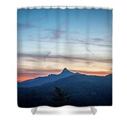 Linville Gorge Wilderness Mountains At Sunset Shower Curtain