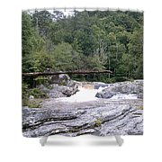 Linville Trail...dare To Walk A Limb Shower Curtain