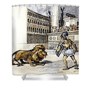 Lion & Gladiator Shower Curtain