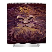 Lion Abstract Shower Curtain