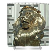 Lion At Mgm Shower Curtain