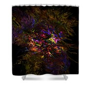 Lion Aura Shower Curtain