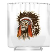 Lion Chief Shower Curtain