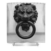 Lion Door Knocker In Brussels Shower Curtain