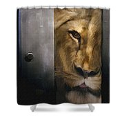 Lion Eye Shower Curtain