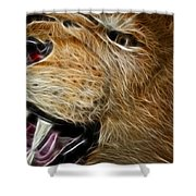 Lion Fractal Shower Curtain