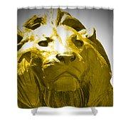 Lion Gold Shower Curtain