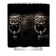 Lion Head Handle Shower Curtain