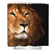 Lion Head Oil Painting Shower Curtain