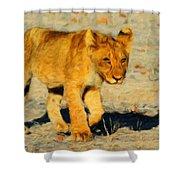 Lion - Id 16235-220310-4716 Shower Curtain