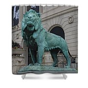 Lion Looking Out Shower Curtain