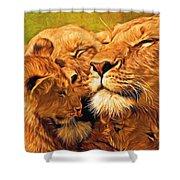 Lion Love #2 Shower Curtain