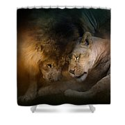 Lion Love Shower Curtain