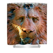 Lion Of Saint Augustine Shower Curtain
