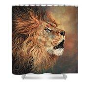 Lion Roar Profile Shower Curtain