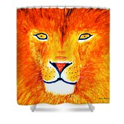 Lion Selfie Color Pop Shower Curtain