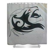 Lion Sketch Shower Curtain