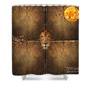 Lion Sun Shower Curtain