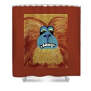Lion-tailed Macaque Shower Curtain