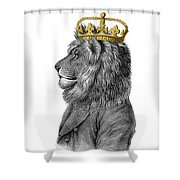 Lion The King Of The Jungle Shower Curtain