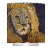 Lion Two Shower Curtain