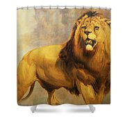 Lion  Shower Curtain by William Huggins